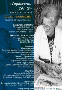 "IND2019 Pavia ""Veglieremo con te"" mostra su Cicely Saunders @ Pavia Sala Sapere"