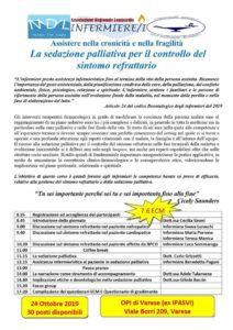 Assistere nella cronicità e nella fragilità : la sedazione palliativa per il controllo del sintomo refrattario @ Varese sede OPI