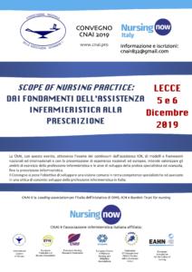 CONVEGNO CNAI 2019. SCOPE OF NURSING PRACTICE: dai fondamenti dell'assistenza infermieristica alla prescrizione @ Hotel President LECCE