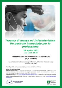 Trauma di massa ed Infermieristica – Un pericolo immediato per la professione (ECM) @ Webinar on line